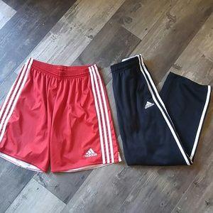 Adidas pants shorts boys M